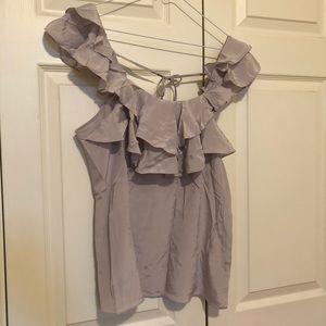 Club Monaco lavender silk blouse